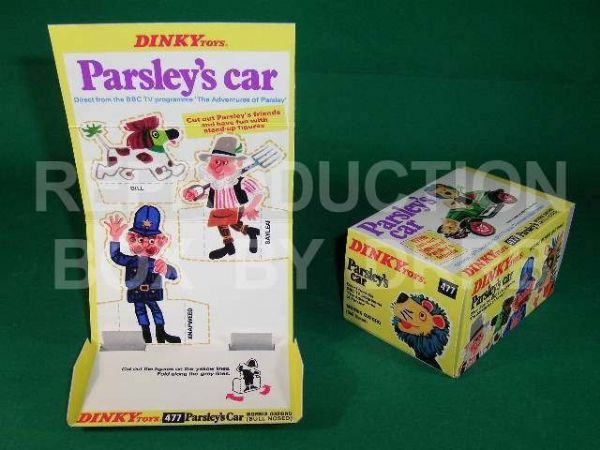Dinky #477 Parsley's Car - Reproduction Box